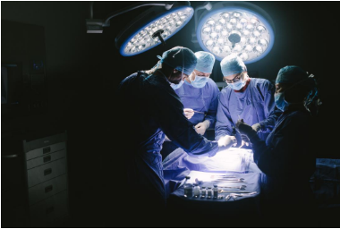 Surgeons carry out spine surgery in the womb